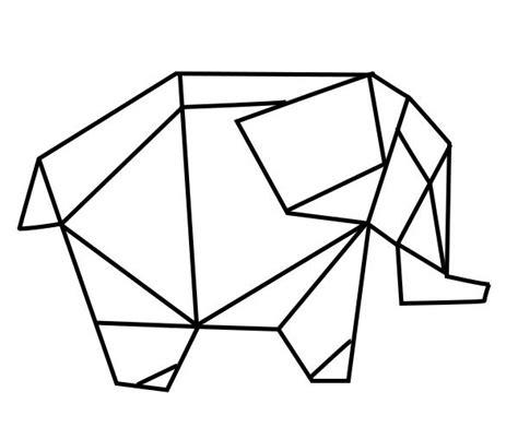 geometric elephant coloring pages geometric geometrique elephant image pinterest