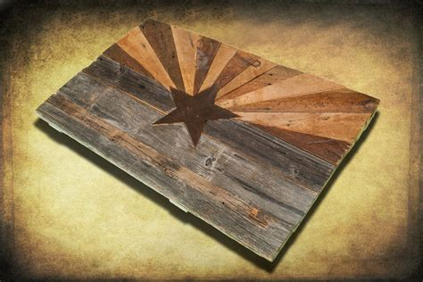 Handmade Flags - barn wood arizona flag handmade distressed wood