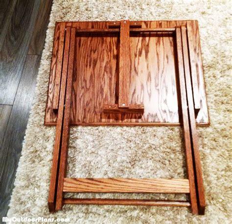 diy folding tv tray myoutdoorplans  woodworking