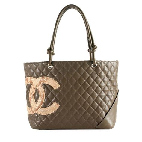 Chanel Richie And Chanel Python Tote by Chanel Python Ligne Cambon Large Shopping Tote