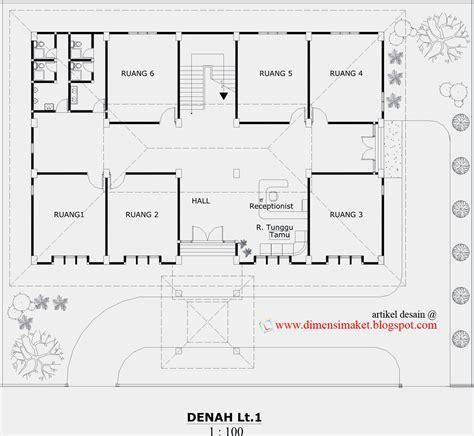 contoh gambar desain kantor aula 2 lantai