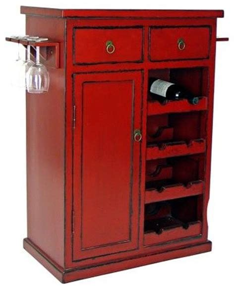 Painted Bar Cabinet Painted Finish Solid Birch Wine Cabinet Asian Wine And Bar Cabinets By Ls Plus