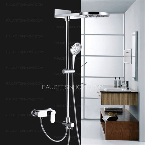 Shower Faucet Systems by Modern Waterfall Top Split Type Copper Shower Faucet System