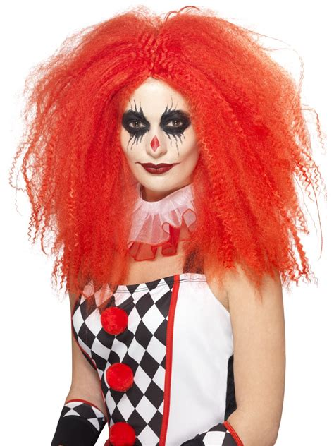 halloween fancy dress costumes scary masks and wigs adult red clown wig 44741 fancy dress ball