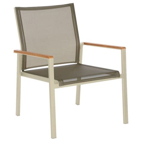barlow tyrie aura seating armchair chagne frame with titanium sling gf i co