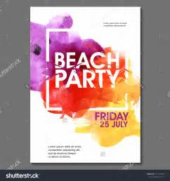 summer night party vector flyer template eps10 design