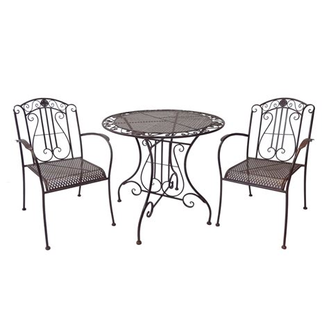 Patio Chairs Bunnings Marquee 3 Rustic Metal Bistro Set Bunnings Warehouse
