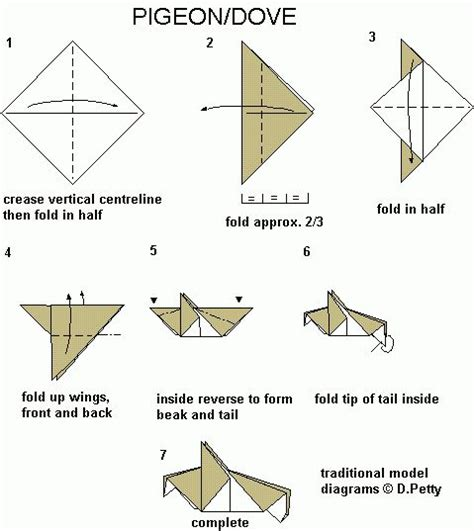 How To Make An Origami Dove Step By Step - 38 best images about pentecost children s crafts and