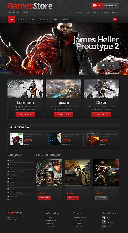 design graphics for games template 44259 game store jigoshop theme