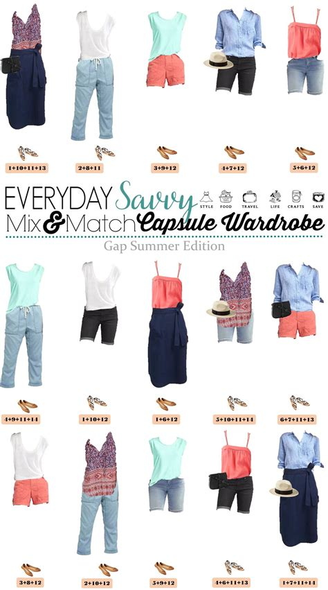 summer capsule wardrobe casual summer outfit ideas gap summer capsule wardrobe