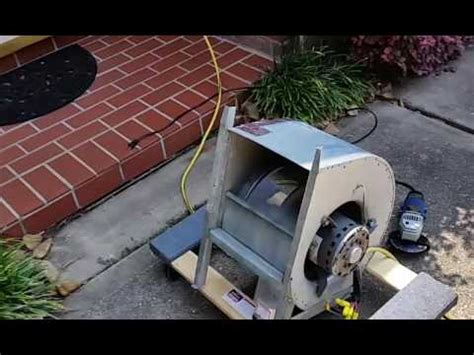 squirrel cage fan lowes old ac squirrel cage fan modified for a garage fan youtube