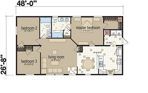 standard home plans exles of three bedroom modular home floor plans