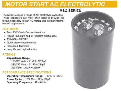 motor capacitors how they work capacitors motor start 11500 11
