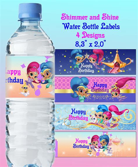 Shimmer For In This New Like Label shimmer and shine inspired water bottle label shimmer shine