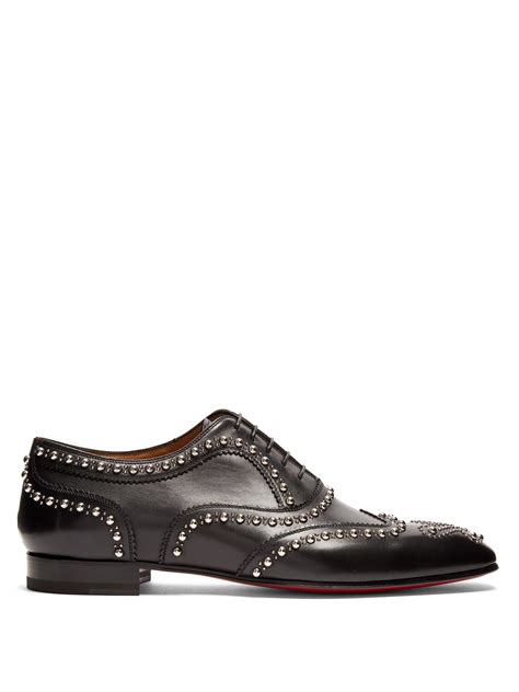 studded oxford shoes christian louboutin clou studded leather oxford