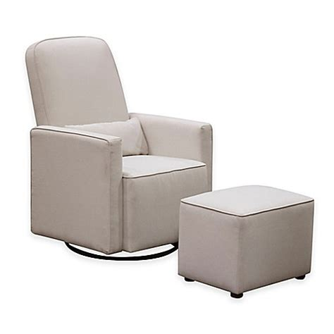 olive swivel glider and ottoman by davinci buy davinci olive upholstered swivel glider with ottoman