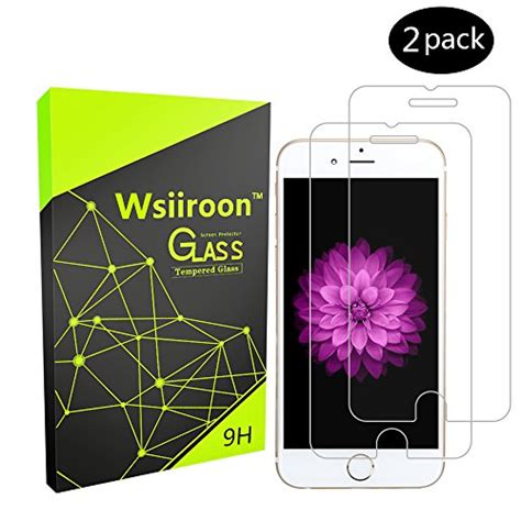 Iphone 66s Tempered Glass Screen Cover Diskon iphone 6 6s 7 screen protector glass wsiiroon tempered glass screen protector for iphone 6s