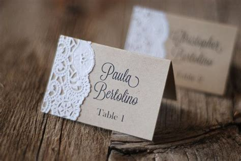 10 Idee Per Un Segnaposto Vintage Guidacatering It Bridal Shower Place Cards Templates