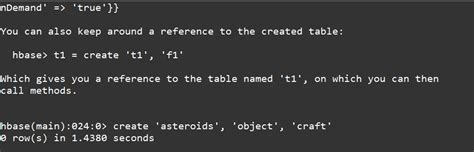how to create a table in hbase henson