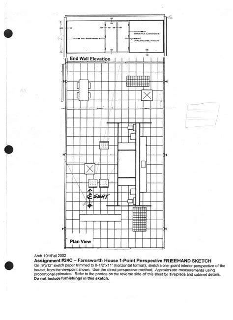 farnsworth house floor plan dimensions here