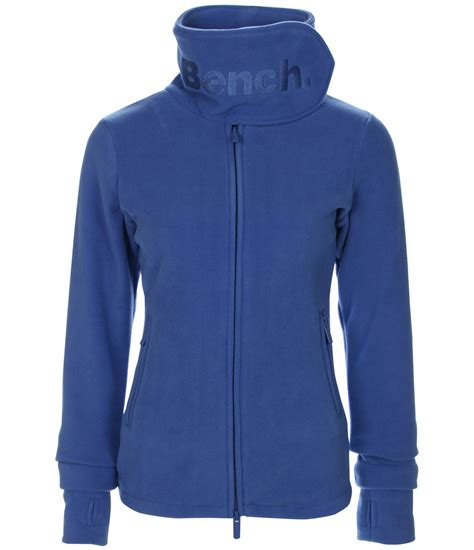 bench fleece bench funnel neck e fleece in blue lyst