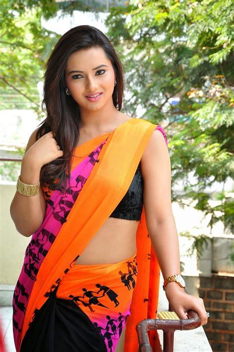 photos of hot navels isha chawla latest hot navel saree photos stills