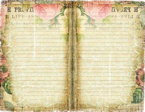 free printable vintage templates free printable shabby chic journal page ephemera s