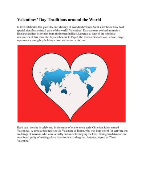 when is day celebrated in the world valentines day traditions around the world