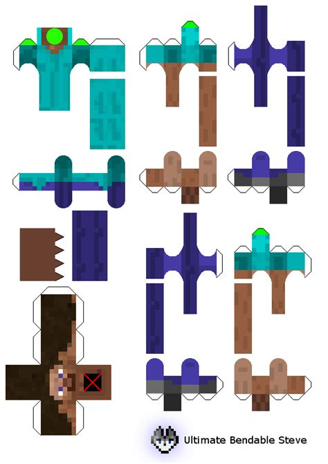 How To Make Minecraft Steve Out Of Paper - papercraft the ultimate bendable steve