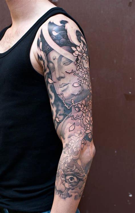 half sleeve nice tibetan skull 25 popular tibetan sleeve tattoos golfian