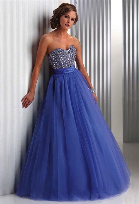 sweetheart beaded prom dress 2015 cheap princess gown sweetheart beaded blue prom