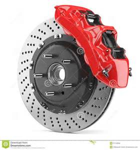 Car Brake System Caliper Automobile Brake Disk And Caliper Stock Illustration