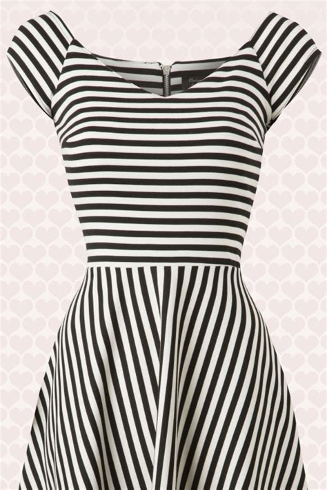 alma swing 50s alma swing dress with black and white stripes