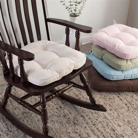 Rocking Chair Pads For Nursery Deauville 18 X 19 Tufted Nursery Rocker Cushion Rocking Chair Cushions At Hayneedle