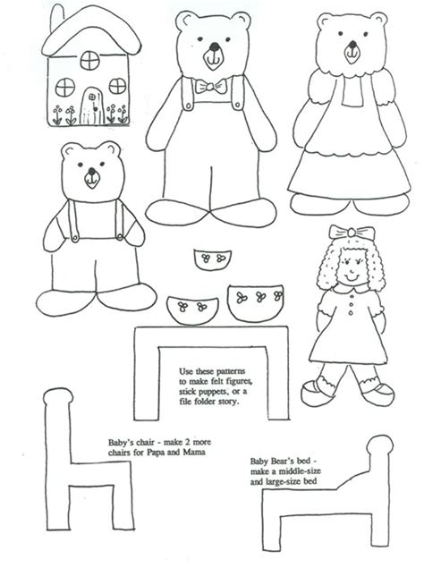 The Story Of Goldilocks And The Three Bears Once Upon A Three Bears Coloring Pages