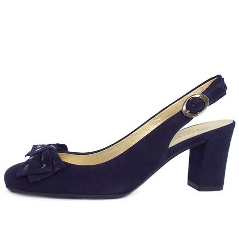 navy shoe kaiser presto slingback court shoes in navy