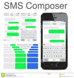 text message template iphone iphone 5s chatting sms template bubbles editorial photo