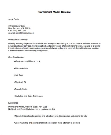 Resume Model by Model Resume Template 4 Free Word Document