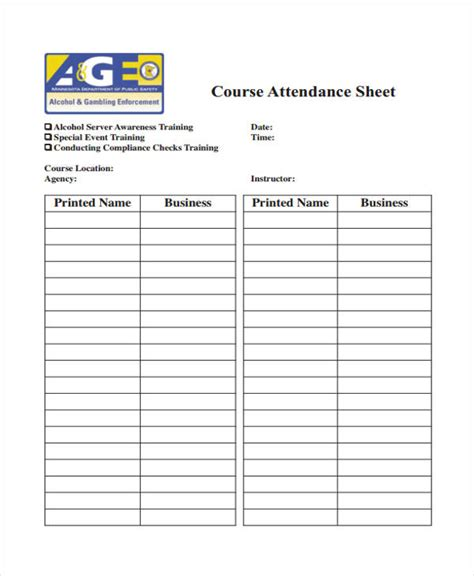employee monthly attendance sheet template excel training