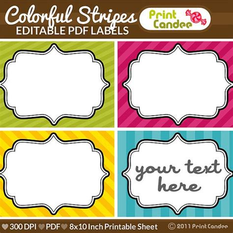 editable labels images  pinterest