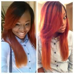 colored sew ins ombre sew in hairstyles for black