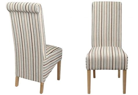 Shankar Krista Dining Chairs Natural Oak Legs Striped Dining Chair
