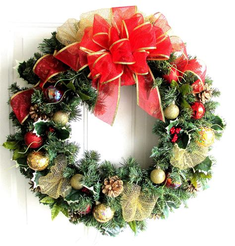 sale christmas wreath red and gold christmas wreath