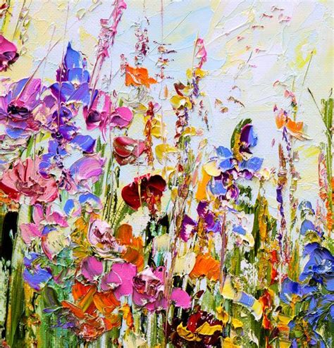 original oil painting abstract flowers on canvas large