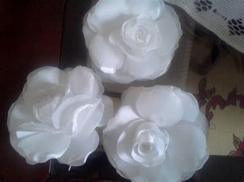 tutorial flor de organza flor tafeta e organza sonilu flores em tecido elo7