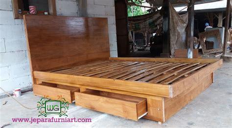 Dipan Kayu Kecil tempat tidur minimalis model jepang 4 laci wibowo gallery wibowo gallery