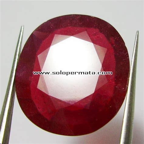 Cincin Ruby 13 5 Mm batu permata ruby pigeon blood 13 75crt kode 17l07