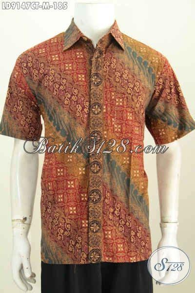 Baju Batik Resmi Elegan batik hem keren nan elegan baju batik halus modis model lengan pendek untuk kerja dan acara