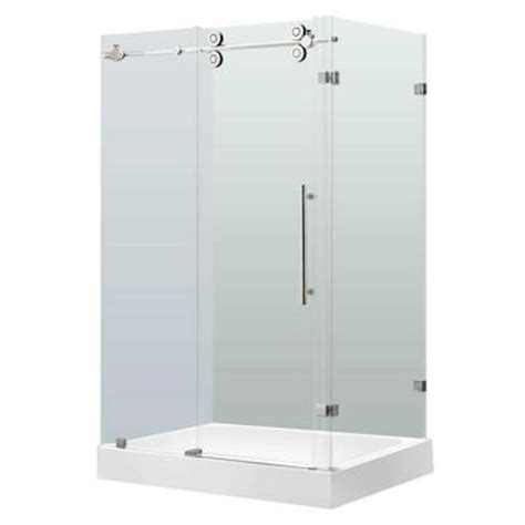 Shower Enclosure Home Depot by Vigo 36 In X 79 In Frameless Bypass Shower Enclosure In