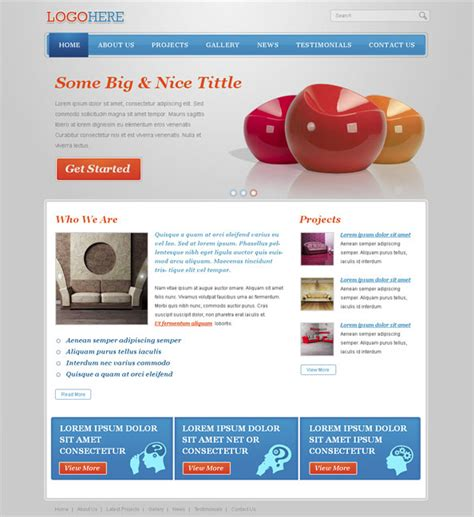 Free Portfolio Website Css Template With Jquery Slider Website Css Templates Free Portfolio Website Templates Html